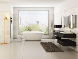 Render zona bagno Bagno moderno di Simone Manna 3D Moderno