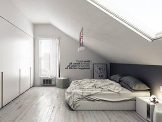 Camera da letto: Camera da letto in stile in stile Moderno di Simone Manna 3D