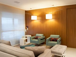 ANALU ANDRADE - ARQUITETURA E DESIGN ห้องนั่งเล่น