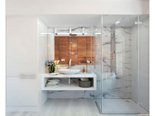 Minimalist style bathrooms by 1+1 studio Minimalist