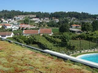 Cobertura ajardinada em Aveleda, Braga Jardins modernos por Neoturf Moderno