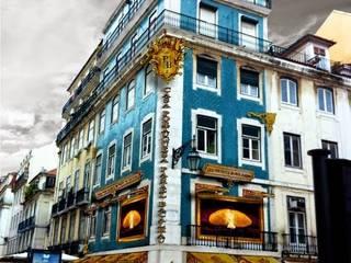 CASA PORTUGUESA DO PASTEL DE BACALHAU Lojas e Espaços comerciais clássicos por Darq2 - Arquitetura e Design Clássico