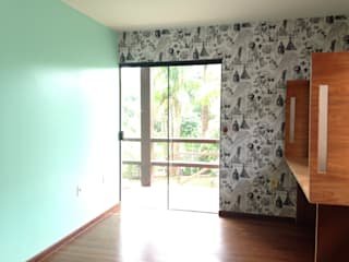 ANALU ANDRADE - ARQUITETURA E DESIGN Country style bedroom
