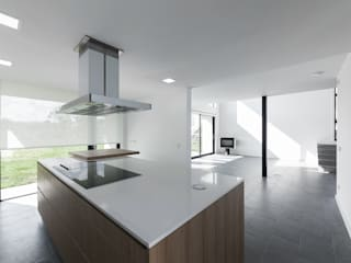 AD+ arquitectura Вбудовані кухні Керамічні Білий
