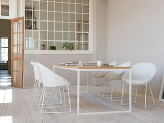 VINCENT SHEPPARD - JOE - WHITE FRAME: modern Dining room by Viva Lagoon Ltd