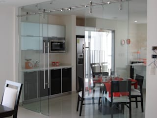 Dapur Modern Oleh INGENIERIA Y DISEÑO EN CRISTAL, S.A. DE C.V. Modern