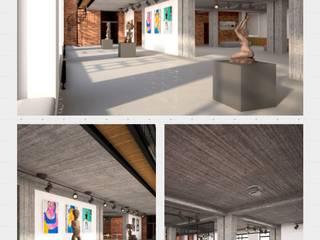 проект - концепция выставочного пространства Выставочные центры в стиле лофт от Circus28_interior Лофт