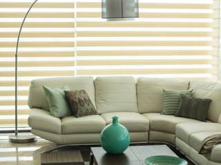 Dovela Interiorismo 现代客厅設計點子、靈感 & 圖片 Turquoise