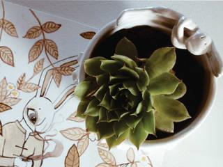 Maceta de cerámica Antonio Almacén Feliz HogarPlantas de interior, maceteros y accesorios Cerámica Blanco