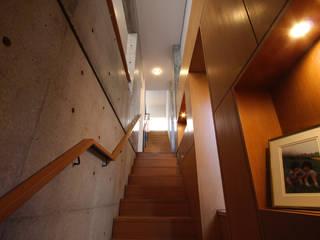 都心の家 N邸 モダンスタイルの 玄関&廊下&階段 の 細江英俊建築設計事務所 モダン
