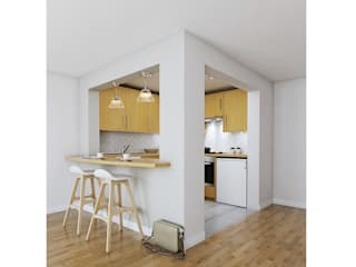 Eden Court Project Katie Malik Interiors Modern kitchen Wood Wood effect