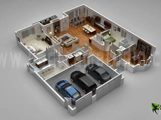 de estilo  por Yantram Architectural Design Studio
