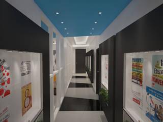 ENTREPRISE KNAUF : UN PROJET ARCHITECTURAL HAUT EN COULEUR Espaces de bureaux modernes par DEYDIER WILFRID ARCHITECTURE Moderne