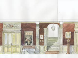 Коттедж в загородном поселке «Пестово». Коридор, прихожая и лестница в классическом стиле от Архитектурно-дизайнерская компания Сергея Саргина Классический