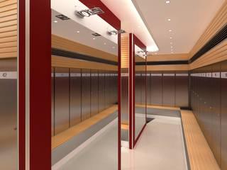 ENTREPRISE KNAUF :  UN PROJET ARCHITECTURAL HAUT EN COULEUR: Bureaux de style  par DEYDIER WILFRID ARCHITECTURE