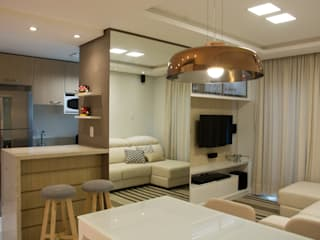 Modern living room by ARQ Ana Lore Burliga Miranda Modern
