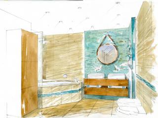 «Коллекционер времени». : Ванные комнаты в . Автор – Архитектурно-дизайнерская компания Сергея Саргина,