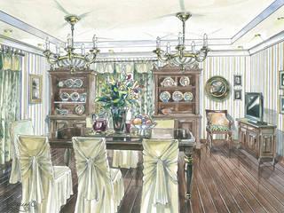 Загородный дом в Английском стиле.: Столовые комнаты в . Автор – Архитектурно-дизайнерская компания Сергея Саргина