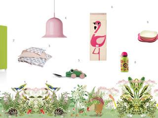 Decorazioni per la cameretta ispirate alla natura amisuradibimbo Stanza dei bambini in stile mediterraneo