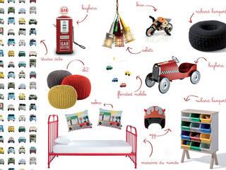 La cameretta come un garage amisuradibimbo Stanza dei bambiniAccessori & Decorazioni