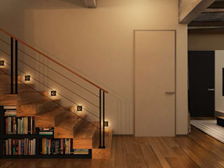he.d group industrial style corridor, hallway & stairs Wood Beige
