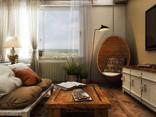 he.d group Camera da letto in stile industriale Beige