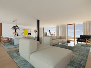 غرفة المعيشة تنفيذ José Tiago Rosa,