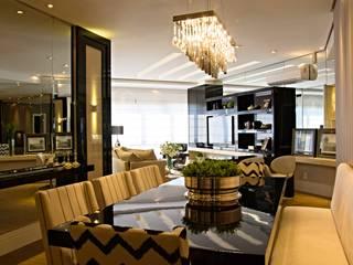 Projeto com toques masculinos para um jovem solteiro Salas de jantar modernas por marli lima designer de interiores Moderno
