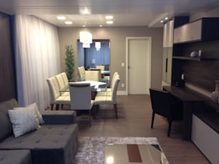 Interiores MM Comedores de estilo moderno de Ágape Arquitetos Associados Moderno