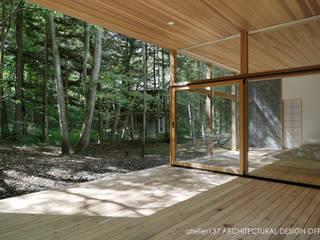 040軽井沢Cさんの家(増築): atelier137 ARCHITECTURAL DESIGN OFFICEが手掛けたテラス・ベランダです。