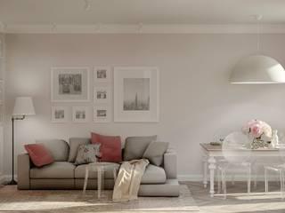 Salas de estilo escandinavo por Ольга Бондарь