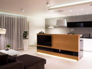 Realizacja wnętrz mieszkania  w Tychach: styl , w kategorii Salon zaprojektowany przez Architekt Adam Wawoczny