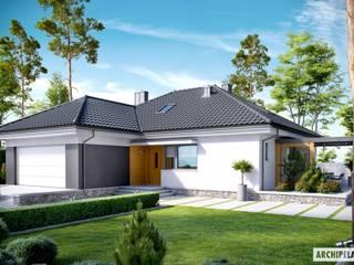 PROJEKT DOMU ASTRID (MAŁA) G2 : styl , w kategorii Domy zaprojektowany przez Pracownia Projektowa ARCHIPELAG,Nowoczesny