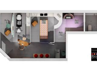 Progettazione per un negozio di estetica e cura del corpo Negozi & Locali commerciali moderni di STUDIO ARCHITETTURA-Designer1995 Moderno