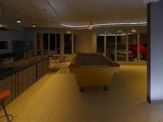 Interiores e Luminotécnica de Residência: Salas de estar  por Henrique Thomaz Arquitetura e Interiores,Moderno