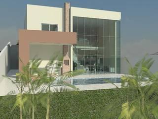 Residência Contemporânea: Casas  por Henrique Thomaz Arquitetura e Interiores,Moderno