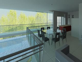 Residência Contemporânea: Salas de jantar  por Henrique Thomaz Arquitetura e Interiores,Moderno