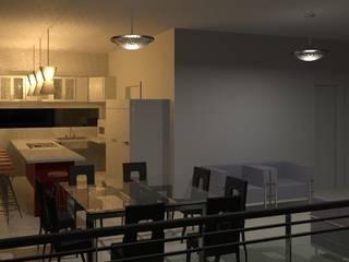 Residência Contemporânea: Cozinhas  por Henrique Thomaz Arquitetura e Interiores,Moderno