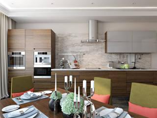 СВЕТЛАНА АГАПОВА ДИЗАЙН ИНТЕРЬЕРА Cocinas de estilo minimalista
