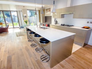 HOUSE EXTENSION & LOFT CONVERSION IN SW LONDON Modern kitchen by DPS ltd. Modern