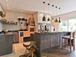 Cocinas de estilo  por Angelica Pecego Arquitetura