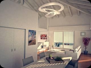HOUSE C02: Soggiorno in stile in stile Moderno di Ivan Rivoltella
