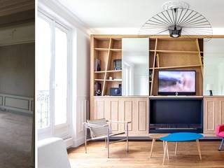 Télévision dissimulée:  de style  par Createurs d'interieur Aix-en-Provence