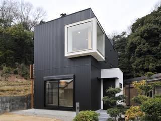 若山建築設計事務所 Maisons originales Métal Noir