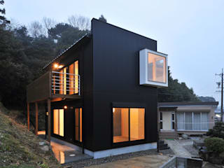 若山建築設計事務所 에클레틱 주택 금속 검정