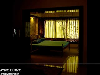 Traditional Interior design Creative Curve Asian style bedroom