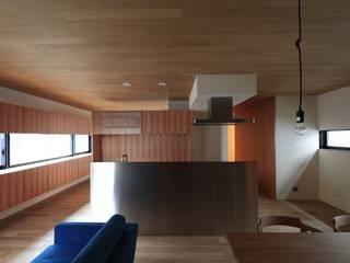 まぁるい引き手のある家: 有限会社Kaデザインが手掛けたキッチンです。