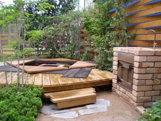 ガーデン囲炉裏とガーデンシンク: 木村博明 株式会社木村グリーンガーデナーが手掛けた庭です。