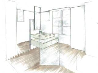 Métamorphose d'une salle de bain Salle de bain moderne par Résolument Déco Moderne