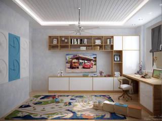 Quartos de criança escandinavos por Студия интерьерного дизайна happy.design Escandinavo